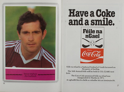 All Ireland Senior Hurling Championship Final,.Galway Vs Offaly,Offaly 2-11, Galway 1-12,.01.09.1985, 09.01.1985, 1st September 1985,.01091985AISHCF,..Steve Mahon, Galway, coca cola, .