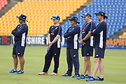 The management team of Paul Farbrace Eoin Morgan (Capt)  Paul Farbrace Chris Silverwood during the England training session ahead of the 4th ODI, at Pallekele International Cricket Stadium, Pallekele, Sri Lanka on 19 October 2018.