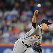 NEW YORK, NEW YORK - June 14:  Pitcher Jameson Taillon #50 of the Pittsburgh Pirates pitching during the Pittsburgh Pirates Vs New York Mets regular season MLB game at Citi Field on June 14, 2016 in New York City. (Photo by Tim Clayton/Corbis via Getty Images)