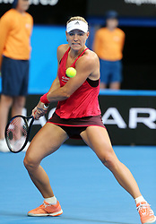 PERTH, Jan. 5, 2018  Angelique Kerber of Germany returns a shot during a match between Germany and Australia at Hopman Cup mixed teams tennis tournament in Perth, Australia, on Jan. 5, 2018. (Credit Image: © Bai Xuefei/Xinhua via ZUMA Wire)