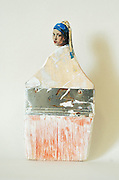 "Artist transforms old paintbrushes into delicate Ladies<br /> <br /> San Francisco-based artist Rebecca Szeto uses paintbrushes to create her artwork, but we're betting you weren't expecting exactly how she uses them. She carves the ends of her used paintbrushes into refined painted renaissance ladies, and the colorful used brush hairs become the sweeping elegant fibers of their gowns.<br /> <br /> ""These works play with notions of re-forming beauty and value,"" writes Szeto in her artist's statement. ""I use humble, end-of-life, mass-produced materials inspired by my experience as a faux finisher.""<br /> ©Rebecca Szeto/Exclsuivepix media"