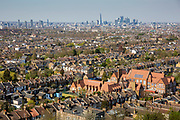 A view across rooftops of South London towards the city of London. <br /> © Andy Aitchison/ Ashden