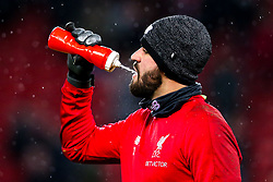 Alisson Becker of Liverpool - Mandatory by-line: Robbie Stephenson/JMP - 30/01/2019 - FOOTBALL - Anfield - Liverpool, England - Liverpool v Leicester City - Premier League