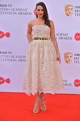 © Licensed to London News Pictures. 13/05/2018. London, UK. ANNA PASSEY arrives for the Virgin TV British Academy (BAFTA) Television Awards. Photo credit: Ray Tang/LNP
