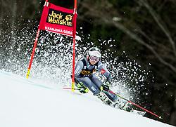 "Coralie Frasse Sombet (FRA) competes during 1st Run of the FIS Alpine Ski World Cup 2017/18 5th Ladies' Giant Slalom race named ""Golden Fox 2018"", on January 6, 2018 in Podkoren, Kranjska Gora, Slovenia. Photo by Ziga Zupan / Sportida"
