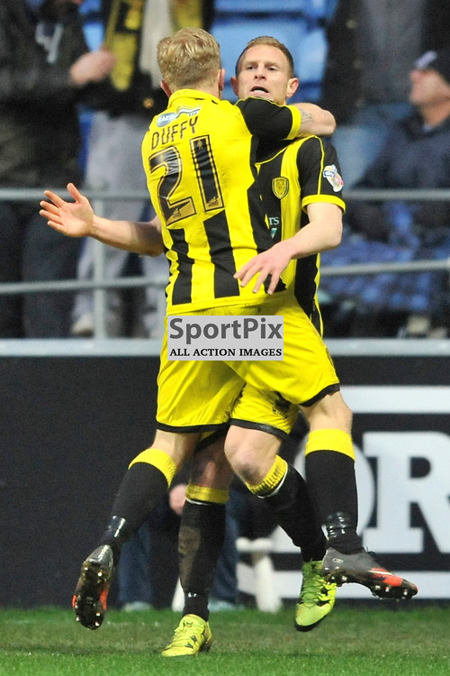 Burton Albions Stuart Beavon Celebrates after Scoring Burtons Second Goal and to put them on top of League One, Coventry City v Burton Albion, Ricoh Arena,  Sky Bet League 1, Saturday 16th JJanuary 2016, (Mike Capps/Sportpix)