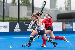 Surbiton's Rebecca Middleton. Holcombe v Surbiton - Investec Women's Hockey League Final, Lee Valley Hockey & Tennis Centre, London, UK on 29 April 2018. Photo: Simon Parker