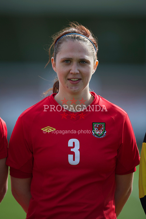 LLANELLI, WALES - Saturday, April 2, 2011: Wales' Jasmin Dutton lines-up before the UEFA European Women's Under-19 Championship Second Qualifying Round (Group 3) match against Iceland at Stebonheath Park. (Photo by David Rawcliffe/Propaganda)