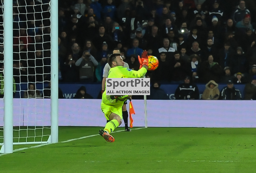 Artur Boruc saves Riyad Mahrez's second half penalty (c) Simon Kimber | SportPix.org.uk