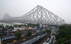 July 8, 2017 - Kolkata, West Bengal, India - Brabourne Road fly over deserted after it was closed for three days for East West Metro Project on July 8, 2017 in Kolkata. (Credit Image: © Saikat Paul/Pacific Press via ZUMA Wire)