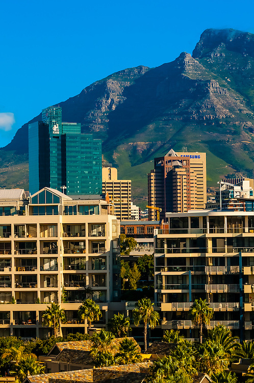 View toward Central Business District, Cape Town, South Africa.