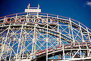 The Cyclone rollercoaster in Coney Island, Brooklyn, New York, 2010.