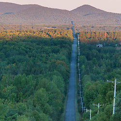Townline Road (part of the International Appalachian Trail) in Merrill, Maine (near Smyrna Mills.)