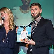 NLD/Amsterdam/20140416 - Presentatie L' Homo 2014, Linda de Mol en Evgeny Levchenko