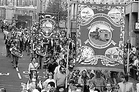 Barnsley Area Road Transport and Kinsley Drift banners, 1983 Yorkshire Miner's Gala. Barnsley.