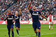 04-10-2015 VOETBAL: AJAX-PSV:AMSTERDAM<br /> Gaston Pereiro van PSV viert zijn tweede treffer<br /> Foto: Geert van Erven