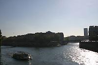 Ferry boat on River Seine, Paris, France<br />