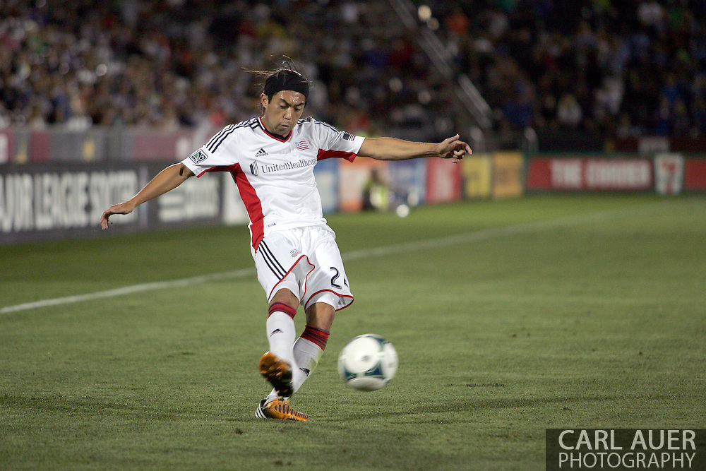 July 17th, 2013 - New England Revolution midfielder Lee Nguyen (24) collects a pass in the second half of action in the Major League Soccer match between the New England Revolution and the Colorado Rapids at Dick's Sporting Goods Park in Commerce City, CO