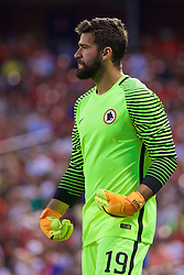 ST. LOUIS, USA - Monday, August 1, 2016: AS Roma's goalkeeper Becker Alisson in action against Liverpool during a pre-season friendly game on day twelve of the club's USA Pre-season Tour at the Busch Stadium. (Pic by David Rawcliffe/Propaganda)
