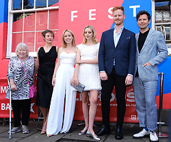 Edinburgh International Film Festival 2019<br /> <br /> Hurt By Paradise (World Premiere)<br /> <br /> Stars and guests arrive on the red carpet for the world premiere<br /> <br /> Pictured: (l to r) Veronica Clifford, Camilla Rutherford, Director Greta Bellamacina, Tanya Burr, Stanley Eldridge and Robert Montgomery<br /> <br /> Aimee Todd | Edinburgh Elite media