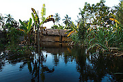 Flooded and partially collapsed home in the village of Avedji, Benin on Monday October 25, 2010.