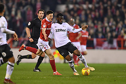 February 25, 2019 - Nottingham, England, United Kingdom - Derby County defender Fikayo Tomori (5)with Joe Lolley (23) of Nottingham Forest looking to make a tackle during the Sky Bet Championship match between Nottingham Forest and Derby County at the City Ground, Nottingham on Monday 25th February 2019. (Credit Image: © Mi News/NurPhoto via ZUMA Press)