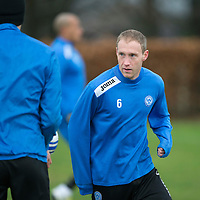St Johnstone's Steven Anderson pictured during training ahead of Saturday's League Cup semi-final against Aberdeen...28.01.14<br /> Picture by Graeme Hart.<br /> Copyright Perthshire Picture Agency<br /> Tel: 01738 623350  Mobile: 07990 594431