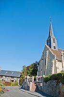 village church near villers-sur-mer, france