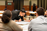 Photo of Joan Zelaya during a MLK Interactive Workshop on Jan. 22 at Walter Rotunda. Photo by Elizabeth Reyes
