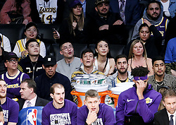 February 27, 2019 - Los Angeles, California, U.S - Edison Koon-hei Chen attends an NBA basketball game between Los Angeles Lakers and New Orleans Pelicans Wednesday, Feb. 27, 2019, in Los Angeles. (Credit Image: © Ringo Chiu/ZUMA Wire)