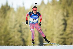Evgeniy Garanichev (RUS) during Men 10 km Sprint of the IBU Biathlon World Cup Pokljuka on Thursday, December 16, 2015 in Pokljuka, Slovenia. Photo by Ziga Zupan / Sportida