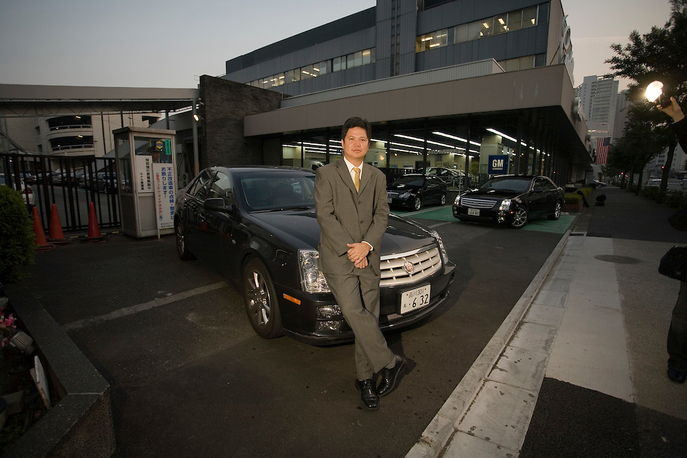 """General Motors in Japan, Sales manager Antonio Zara  has what has to be """"the  toughest job in japan""""  sales of GM cars in Japan  have  declined in recent years with only about 6000 units being sold last year. compared to more than 25,000 for  BMW alone..Zara is driving a  Cadillac STS through the streets of Tokyo...."""