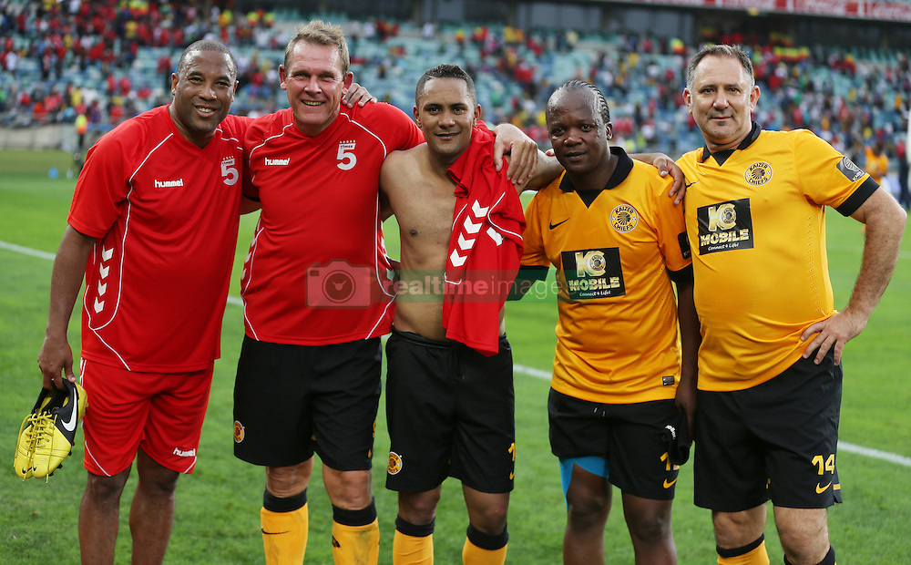 DURBAN, SOUTH AFRICA - NOVEMBER 16:  Neil Tovey 2nd from the left during the Liverpool  Legends vs Kaizer Chiefs Legends Match (Moses Mabhida Stadium) DURBAN, SOUTH AFRICA - NOVEMBER 16<br /> (Photo by Steve Haag)