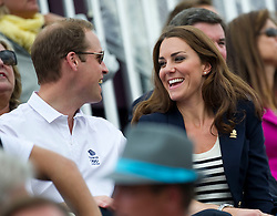 Duke and Duchess of Cambridge  watching  the show jumping at the London 2012 Olympics , Tuesday 31st July 2012 Photo by: i-Images