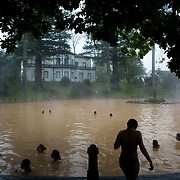 April 2, 2017 - Sao Miguel Island, Portgual : People swim in the brown geothermally heated waters in the Jardín Botánico Terra Nostra (Terra Nostra Garden) in Furnas, The Azores. CREDIT: Karsten Moran / Redux Pictures