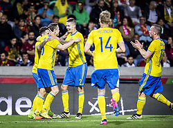 March 28, 2017 - Funchal, Madeira, Portugal - 6. Viktor Claesson, 2. Mikael Lustig, 14. Filip Helander, 13. Jakob Johansson, ..Sweden defeated Portugal 3-2 in a friendly game at Estadio do Maritimo, Madeira, Portugal 2017-03-28..(c) ERICSSON MARCUS  / Aftonbladet / IBL BildbyrÃ¥....* * * EXPRESSEN OUT * * *....AFTONBLADET / 85729 (Credit Image: © Aftonbladet/IBL via ZUMA Wire)