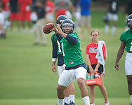 Ole Miss' Barry Brunetti at football practice in Oxford, Miss. on Saturday, August 3, 2013.