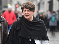 © Licensed to London News Pictures. 12/12/2018. London, UK. ARLENE FOSTER, leader of the DUP is seen in Westminster as Prime Minister Theresa May faces a vote of no confidence from her own party. Photo credit: Ben Cawthra/LNP