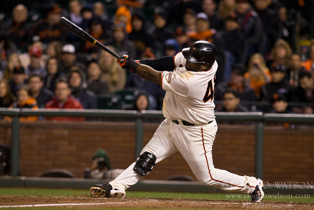 SAN FRANCISCO, CA - MAY 21: Pablo Sandoval #48 of the San Francisco Giants hits a two run walk-off home run against the Washington Nationals during the tenth inning at AT&T Park on May 21, 2013 in San Francisco, California. The San Francisco Giants defeated the Washington Nationals 4-2 in 10 innings. (Photo by Jason O. Watson/Getty Images) *** Local Caption *** Pablo Sandoval