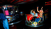 Fun fair ride at the first outdoor rave up North, The Gio Goi Joy Rave run by Anthony and Chris Donnelly, Ashworth Valley, Rochdale, 5th August 1989.