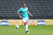 Forest Green Rovers Gavin Gunning(16) passes the ball forward during the EFL Sky Bet League 2 match between Milton Keynes Dons and Forest Green Rovers at stadium:mk, Milton Keynes, England on 15 September 2018.