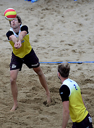 16-08-2014 NED: NK Beachvolleybal 2014, Scheveningen<br /> Bart Bolsterlee (1)