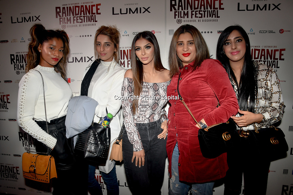 Faryal Makhdoom and guests attend World Premiere of Team Khan - Raindance Film Festival 2018 at Vue Cinemas - Piccadilly, London, UK. 29 September 2018.