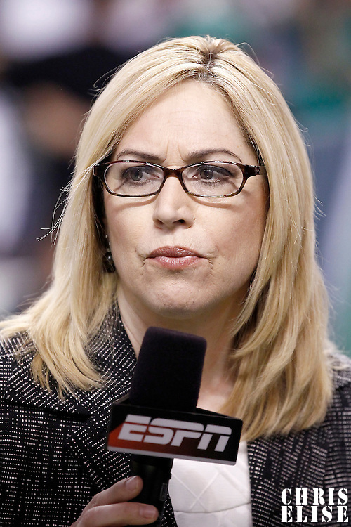 26 May 2012: ESPN Doris Burke is seen prior to the Boston Celtics 85-75 victory over the Philadelphia Sixer, in Game 7 of the Eastern Conference semifinals playoff series, at the TD Banknorth Garden, Boston, Massachusetts, USA.