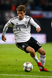 November 16, 2018 - Leipzig, Germany - Thomas Muller of Germany in action during the international friendly match between Germany and Russia on November 15, 2018 at Red Bull Arena in Leipzig, Germany. (Credit Image: © Mike Kireev/NurPhoto via ZUMA Press)