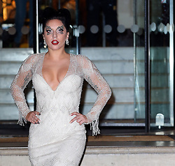 Singer Lady Gaga leaving The Langham Hotel in London, UK. 25/10/2014<br />BYLINE MUST READ : JAMESY/GOTCHA IMAGES<br /><br />Copyright by © Gotcha Images Ltd. All rights reserved.<br />Usage of this image is conditional upon the acceptance <br />of Gotcha Images Ltd, terms and conditions available at<br />www.gotchaimages.com