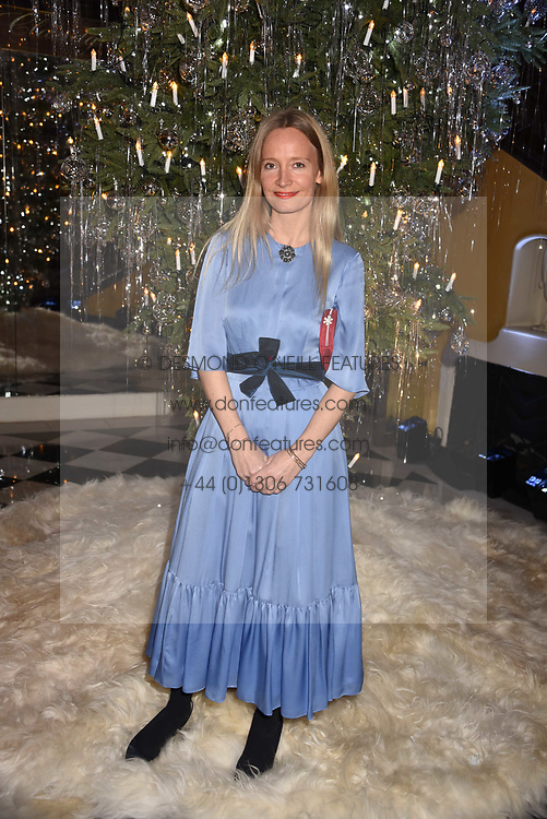 Martha Ward at reception to celebrate the launch of the Claridge's Christmas Tree 2017 at Claridge's Hotel, Brook Street, London England. 28 November 2017.<br /> Photo by Dominic O'Neill/SilverHub 0203 174 1069 sales@silverhubmedia.com