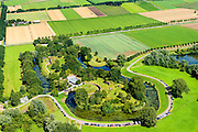 Nederland, Gelderland, Gemeente Lingewaal, 23-08-2016; Fort Vuren, onderdeel van de Nieuwe Hollandse Waterlinie.<br /> Fort Vuren, part of the New Dutch Waterline.<br /> aerial photo (additional fee required); <br /> luchtfoto (toeslag op standard tarieven); copyright foto/photo Siebe Swart