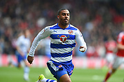 Reading striker Lewis Grabban (50) during the EFL Sky Bet Championship match between Nottingham Forest and Reading at the City Ground, Nottingham, England on 22 April 2017. Photo by Jon Hobley.