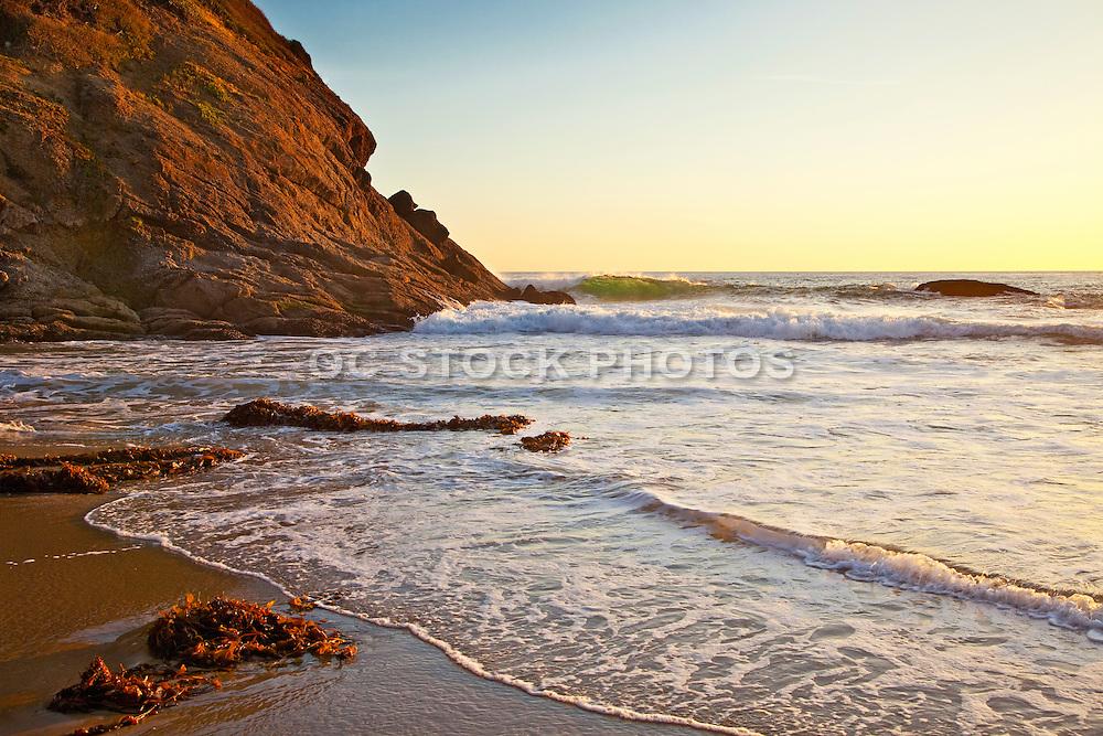 Strand Beach Dana Point At Sunset